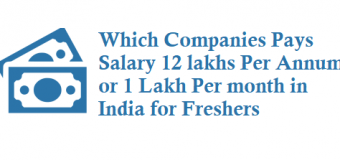 Which IT Company Pays Salary 12 lakhs Per Annum in India for freshers