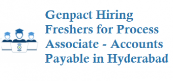 Genpact Hiring Freshers for Process Associate – Accounts Payable in Hyderabad