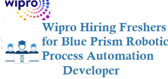 Wipro Hiring Freshers for Blue Prism-Robotic Process Automation Developer at Hyderabad