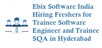 Ebix Software India Hiring Freshers for Trainee Software Engineer and Trainee SQA inHyderabad
