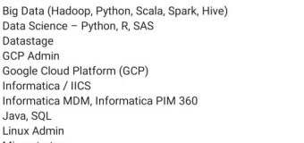 Infosys Hiring Experienced People For Multiple Technologies Across PAN India Locations