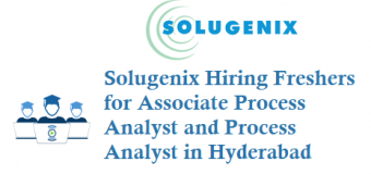 Solugenix is Hiring Freshers for Process Analyst in Hyderabad